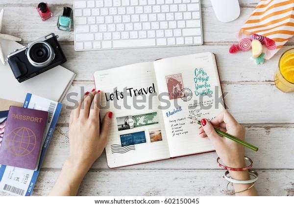 旅行旅行中の旅行メモの計画
