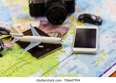 Planning for trip set of travel accessory