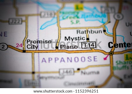 Bentonsport Iowa Map.Plano Iowa Usa On Map Stock Photo Edit Now 1152396251 Shutterstock