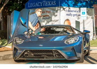 Plano, Texas USA , TEXAS - June 08, 2019: 10th Annual Shelby Car. Aaron Shelby and his Ford GT
