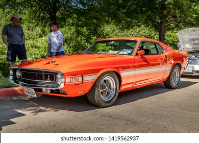 Plano, Texas USA , TEXAS - June 08, 2019: 10th Annual Shelby Car. 1969 Shelby GT 350, Hertz rent a racer, Shelby number 2055