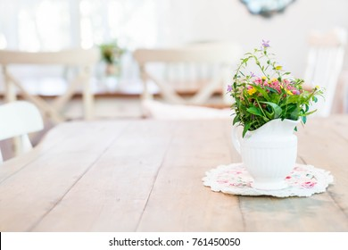 plant and flower in vase  decorated on table
