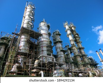 plant petrochemical  In the daytime with copy space on top.