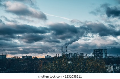 Plant pipes polluting city air