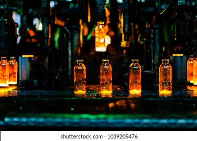 Plant for the production of bottles, glass plant