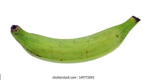 plantain banana isolated on white