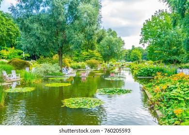 Planten un Bloomen old botanical garden in Hamburg, Germany.