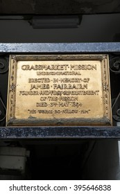 A plaque in Grassmarket, marking the location of the former Grassmarket Mission which provided food and clothing to the residents of the Grassmarket slums during the 19th and 20th centuries.