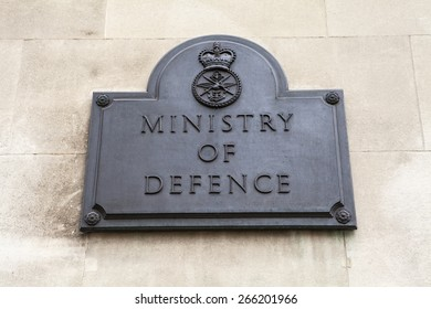 A plaque on the Ministry of Defense building in London.
