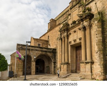 PLASENCIA, CACERES, SPAIN - NOVEMBER 25, 2018: Convent of San Vicente Ferrer, currently National Parador