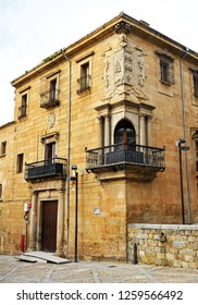 Plasencia, Spain - Feb 28, 2014: House of the Dean (Casa del Dean) in Plasencia, a famous town in the province of Caceres, Extremadura, Spain