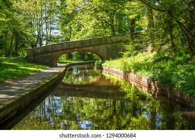 Plas-Isaf bridge No 37W over the Llangollen Canal between Trevor and LLangollen in Wales, UK