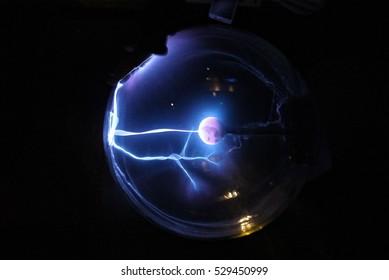 Plasma Electrostatic Wave in electrostatic plasma sphere in the dark