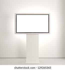 Plasma screen on white wall