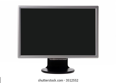 plasma TV with black screen isolated over white