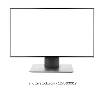 Plasma tv screen television or pc monitor computer destop slim high definition isolated on white background photo object design