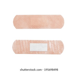 Plaster aid, closeup shot, isolated on white background