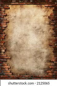 Plakathintergrund mit Ziegelwand