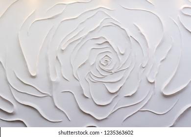 Plaster background floral pattern