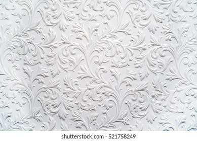 Plaster background floral pattern