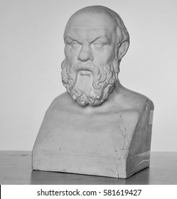 plaster bust of Socrates in high quality