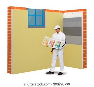 Plaster color selection