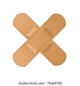 plaster cross isolated on white