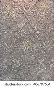 The plaster in the form of floral pattern , background, texture