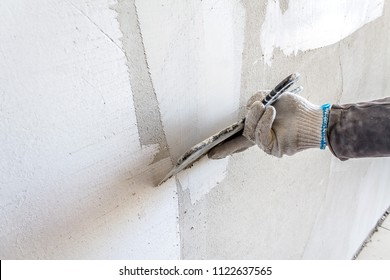 Plaster on the wall as a background
