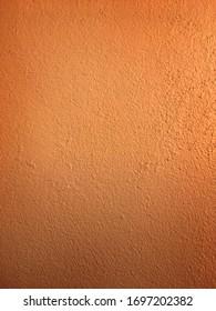 Plaster Orange Copper Wall Background Textured