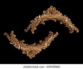 plaster ornament, ornate pattern, stucco, details