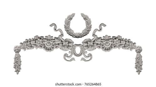plaster ornament, ornate pattern, stucco details