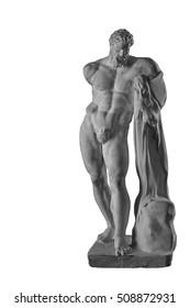 plaster statue of Hercules, naked man
