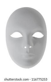 Plaster Venetian mask on white
