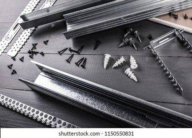 plasterboard gypsum board profiles and fastening set