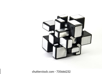 Plastic 3D Puzzle on White Background