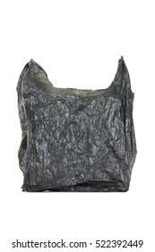 Plastic bag isolated on white background