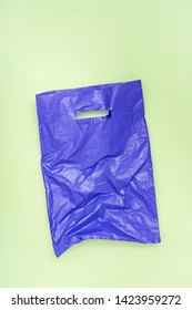 Plastic bag on paper background. copy space.