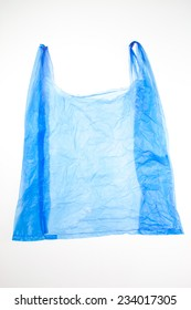Plastic bag on white background