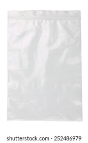 plastic bag on a white background