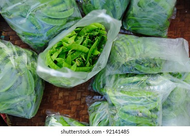 Plastic Bag With Peas background