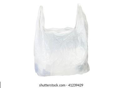 plastic bag under the white background