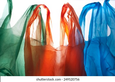plastic bags background, clipping path included