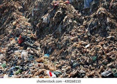 Plastic bags, household garbage and toxic industrial waste contaminates land, soil and groundwater at the largest, most polluted landfill site on the holiday resort island of Bali, Indonesia.