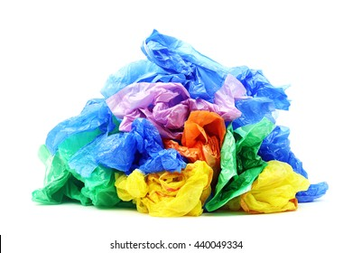 Plastic bags isolated on a white background