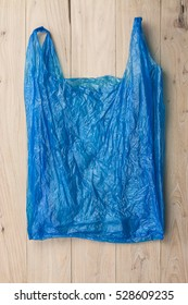 Plastic bags on the wood