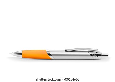 Plastic ballpoint pen to write draw scribble fill sign document contract sheet/ Ballpoint Pen Yellow/ Plastic ballpoint pen