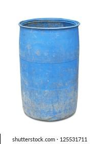 Plastic barrel isolated on white background