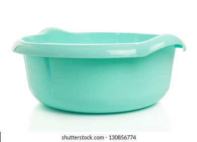 plastic basin with clipping path