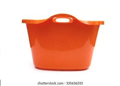 plastic basin on the white background